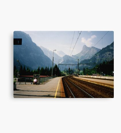 Kandersteg Train Station Canvas Print
