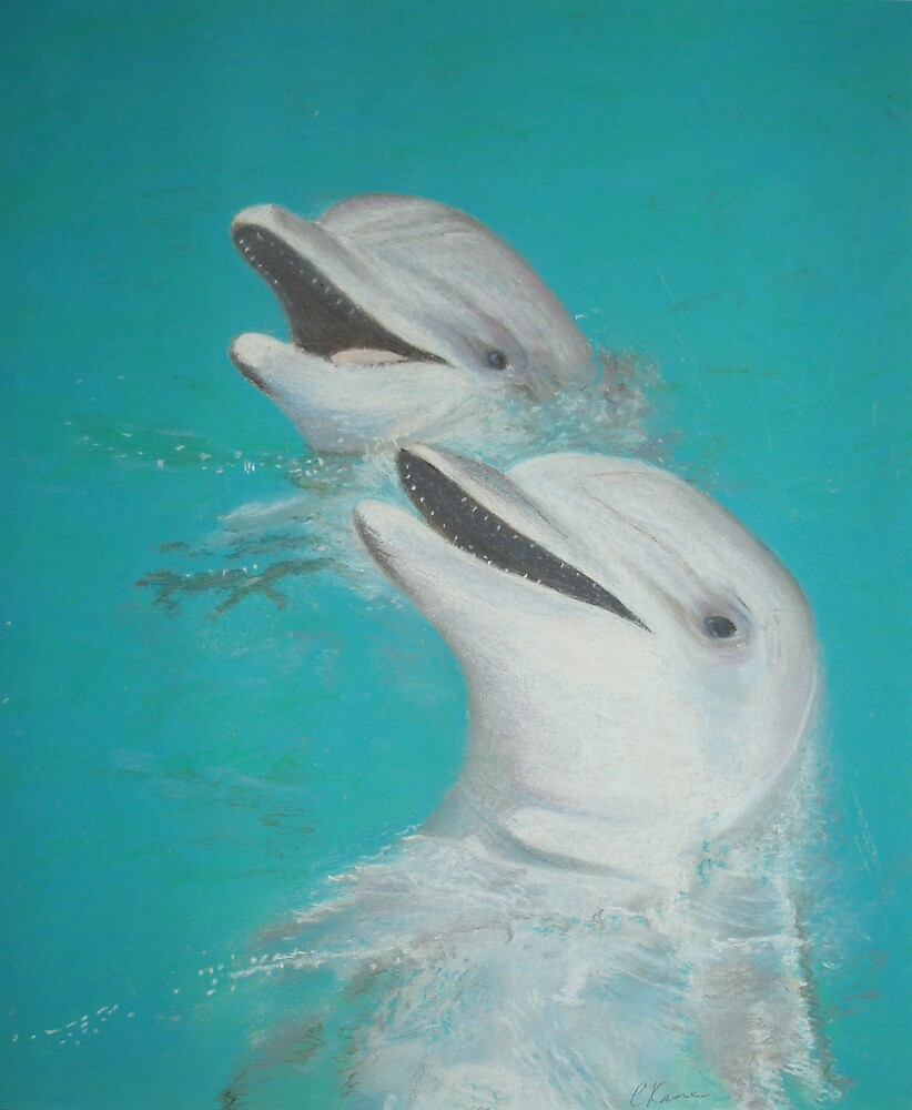 Happy Dolphins by Carolyn