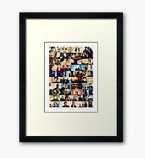 sherlock bbc caps Framed Print