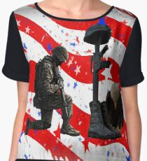 Respect our vets! Chiffon Top