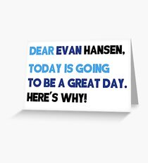 Dear Evan Hansen Letter Greeting Card