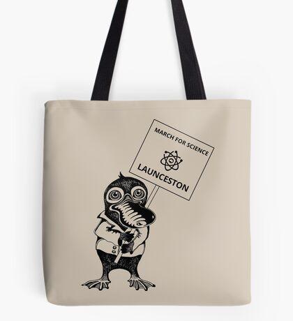 March for Science Launceston – Platypus, black Tote Bag