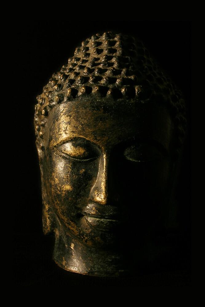 Buddha Bronze Sculpture - Tryptic Centre by Matthew Tyrrell