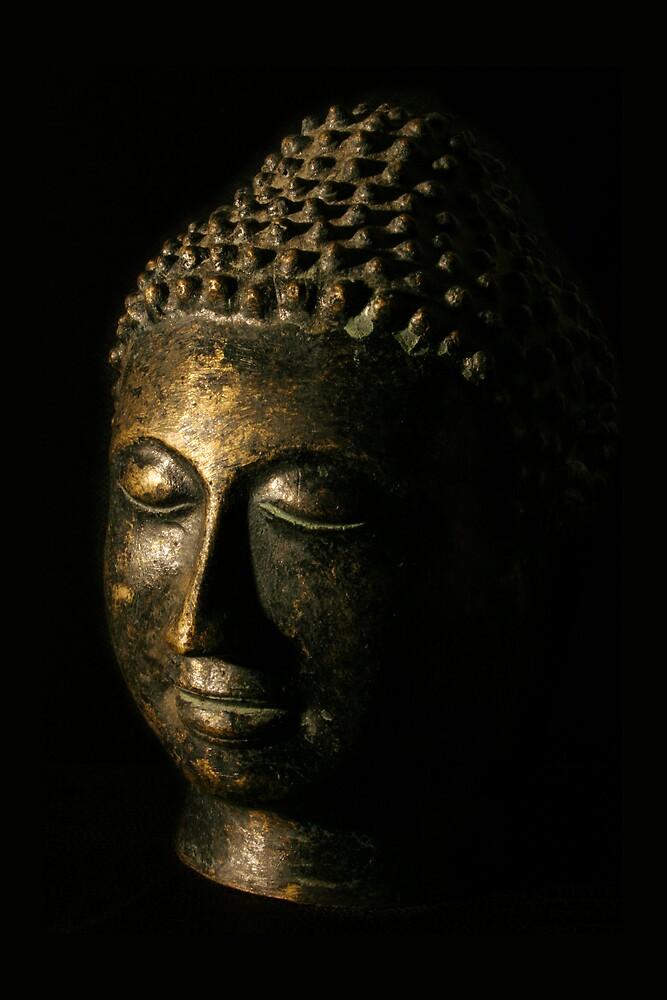 Buddha Bronze Sculpture - Tryptic Right by Matthew Tyrrell