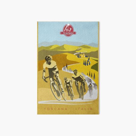 Strade Bianche Retro Cycling Art Art Board Print