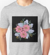 Illustration Flower Bouquet Unisex T-Shirt