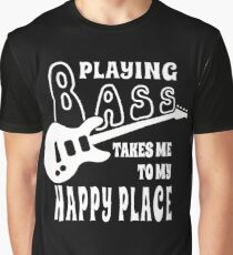 Bass Player Happiness Graphic T-Shirt