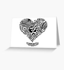 Yoga Heart Namaste Om Greeting Card
