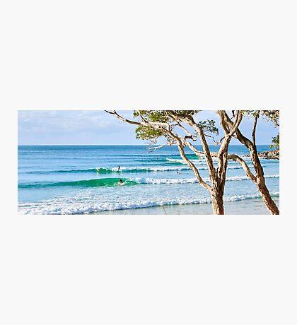 Surfing the Tea Tree Breaks Photographic Print