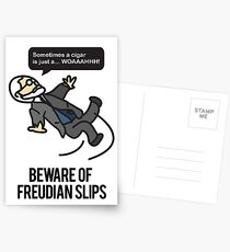 Beware of Freudian Slips Postcards
