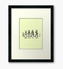 Jak and Daxter Saga - Black Sketch Framed Print