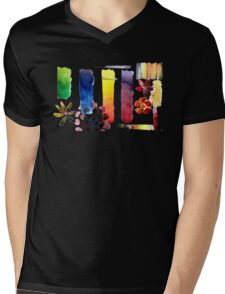 Bright Watercolor Swatch Mens V-Neck T-Shirt