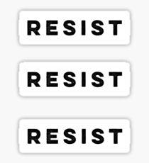 RESIST 3 stickers Sticker
