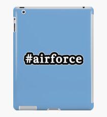 Air Force - Hashtag - Black & White iPad Case/Skin