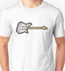 Pixel Silver Reverend Guitar Unisex T-Shirt