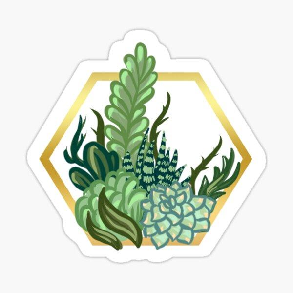 Octagon Succulent Terrarium Sticker