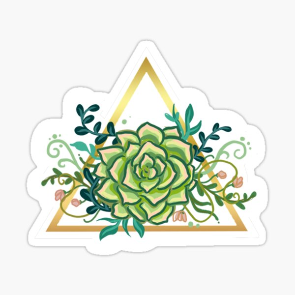 Triangular Simple Succulent Sticker