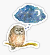 Dreaming Owl Sticker