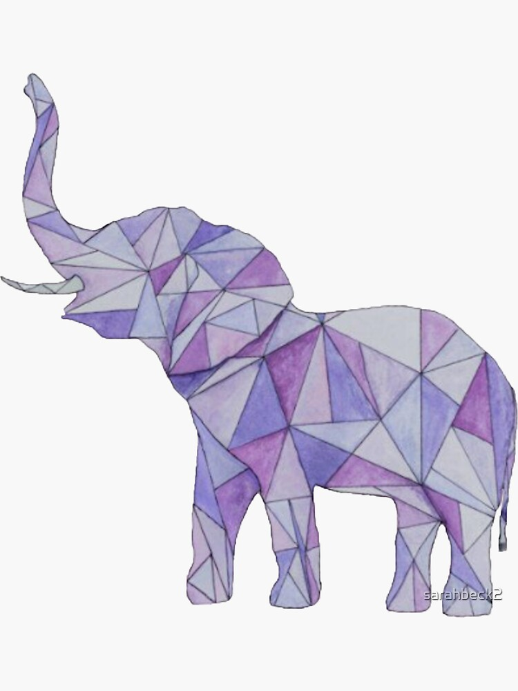 Elefante geométrico púrpura de sarahbeck2