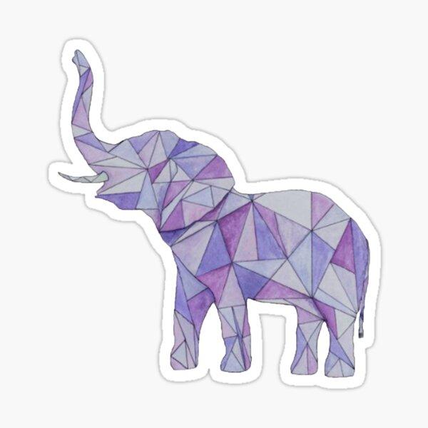 Éléphant géométrique pourpre Sticker