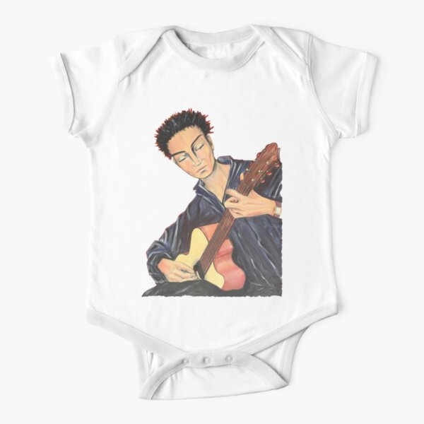 Guitar Man Short Sleeve Baby One-Piece