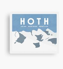 Galactic Travel - Hoth Canvas Print