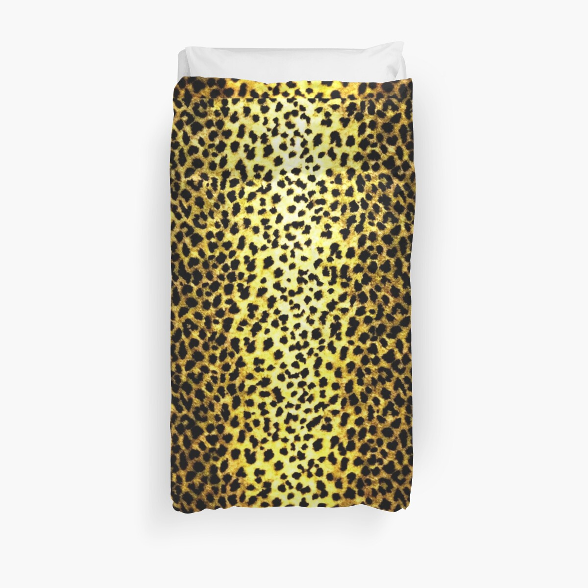 'Leopard Wallpaper Animal Print' Duvet Cover by yonni