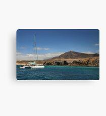 Papagaya Beach Heads - Lanzarote Canvas Print
