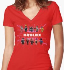 Roblox New Women's Fitted V-Neck T-Shirt