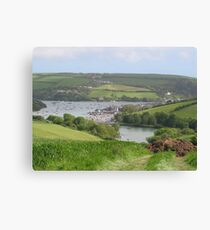 Salcombe Harbour from afar Canvas Print