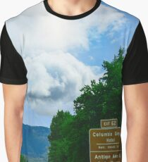Hood River Oregon - Exit 62 Historic Columbia Gorge Hotel Graphic T-Shirt