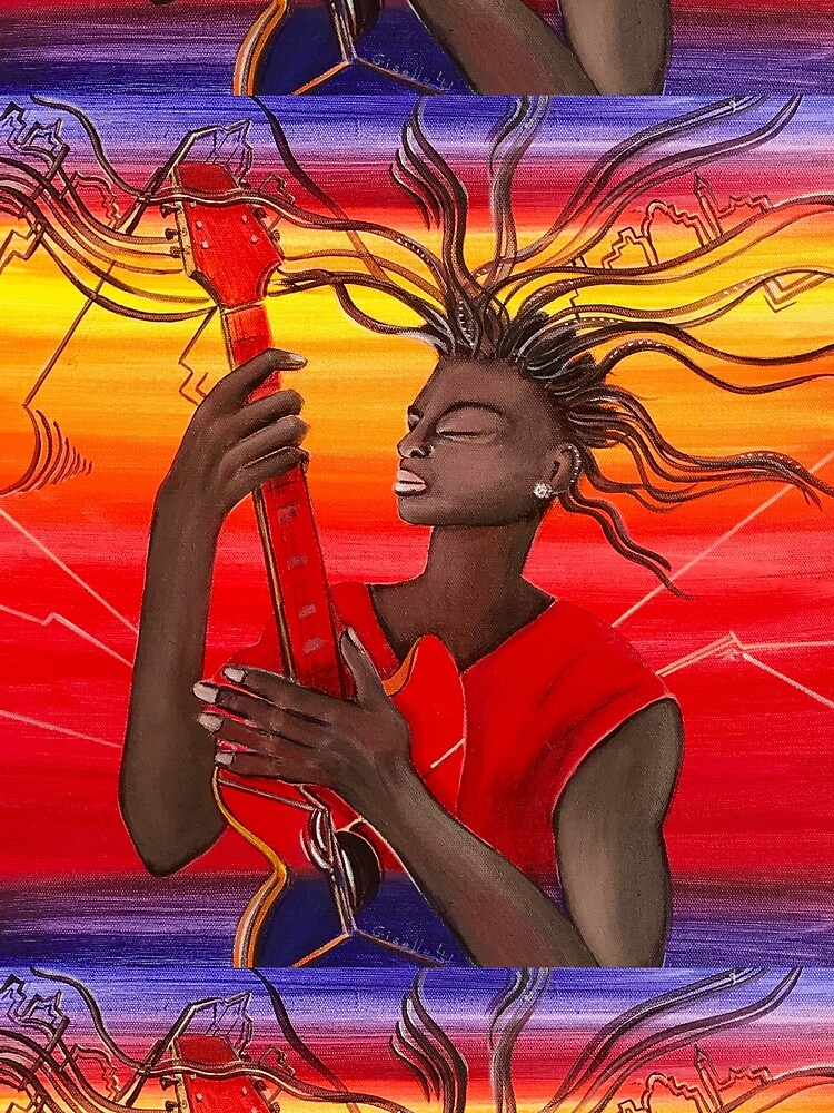 Electric Guitar Player by GalleryGiselle