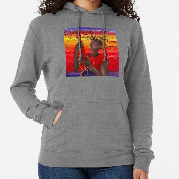 Electric Guitar Player Lightweight Hoodie