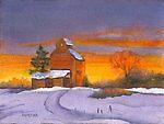 North Dakota Sunset by Marsha Woods