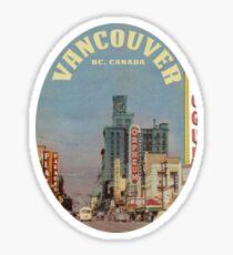 Pegatina Granville Street, Vancouver, Columbia Británica, Canadá