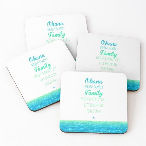 Ohana means Family Coasters (Set of 4)