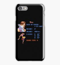 V Stats iPhone Case/Skin