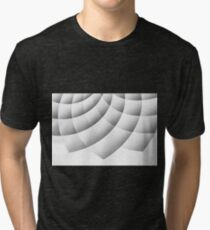 White Background With Abstract Flower Tri-blend T-Shirt