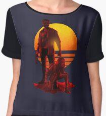 Logan Sunset Chiffon Top