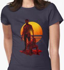 Logan Sunset Women's Fitted T-Shirt