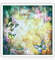 Vintage style Australian flora and butterflies Sticker