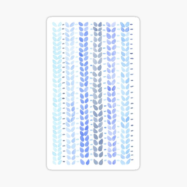 Blue Knit Stitches Pattern Sticker