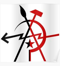 Leftist Unity - Anarchy and Communism Poster