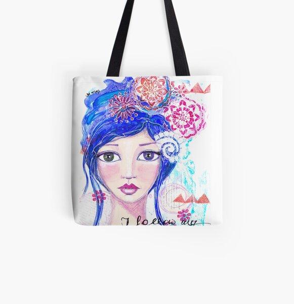 I follow my heart | Ich folge meinem Herzen Allover-Print Tote Bag