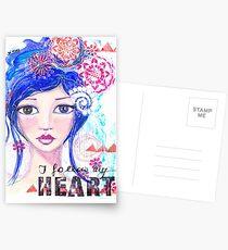 I follow my heart   Ich folge meinem Herzen Postkarten