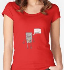 i am robot Women's Fitted Scoop T-Shirt