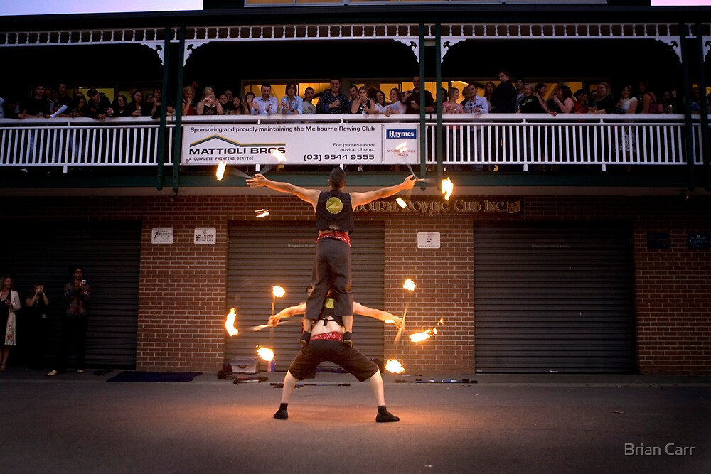 Fire dancers by Brian Carr