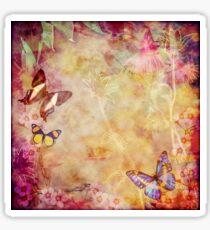 Vintage Australian butterflies and flora Sticker