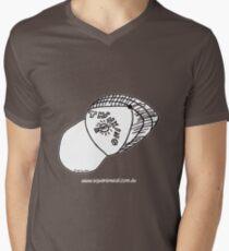 Thinking Cap on TShirt by Alex - dark shirt  Men's V-Neck T-Shirt