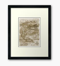 Mapping the Artistic Mind Framed Print